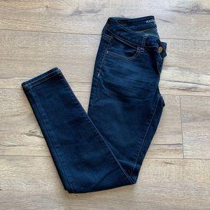 AE Dark Wash Skinny Jegging - 0 Short